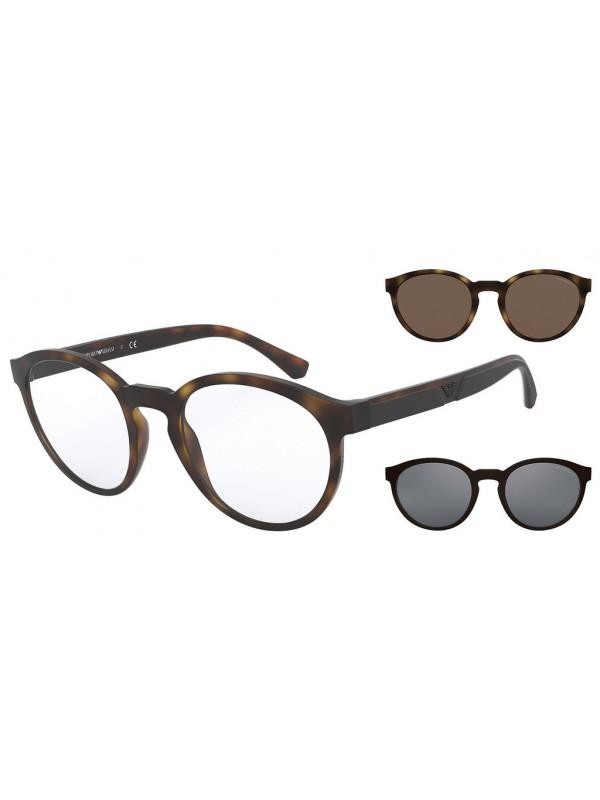 Emporio Armani 4152 58021W - Oculos com 2 Clip On