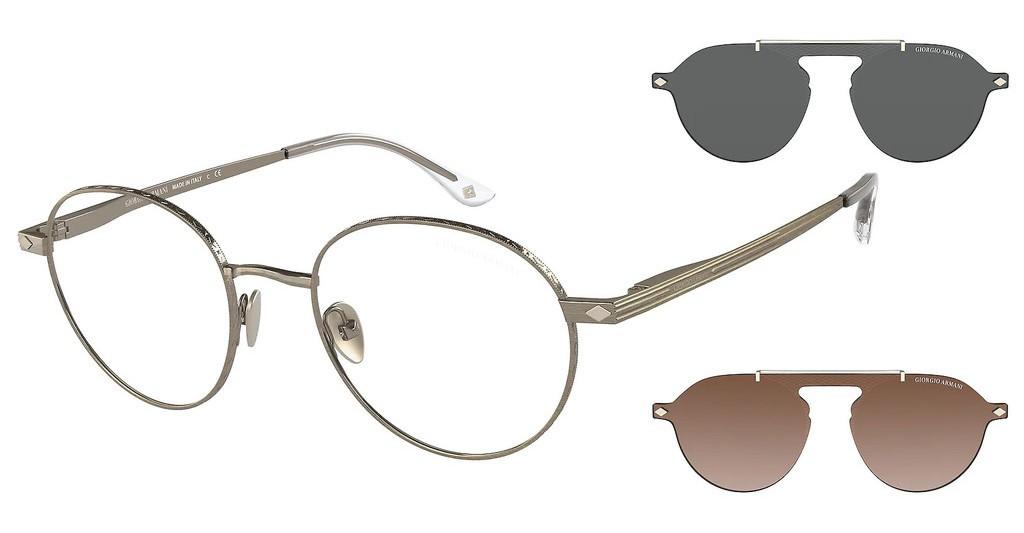 Giorgio Armani 6107 31981W - Oculos de Grau e 2 Clip On